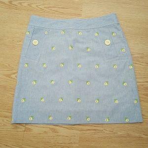 Lilly Pulitzer lemon skirt